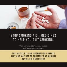 Stop Smoking Aid : Medicines to Help You Quit Smoking Quit Smoking Motivation, Quit Smoking Tips, Stop Smoke, Smoking Cessation, Medical Advice, Weight Gain, Helping People, Cravings, Health And Wellness