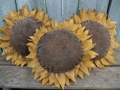 Primitive Sunflower Bowl Fillers Ornies by TreasuredPrimitives, $22.95