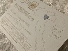 Any destination! Postcard wedding invitations or save the dates with glitter heart. £1.20 each (includes envelope) sjweddingstationery@icloud.com Facebook.com/sj4weddingstationery