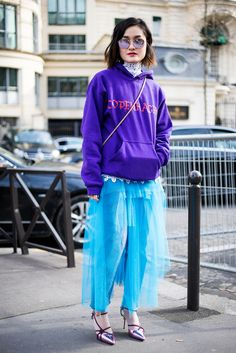 Paris Fashion Week street style as shot by Simon Chetrit.