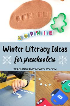 17 winter literacy activities that preschoolers will love! Free printables included. Fun for the classroom or homeschool. #winter #literacy #alphabet #reading #preschool #activities #printables #age3 #age4 #teaching2and3yearolds Name Activities Preschool, 4 Year Old Activities, Winter Activities For Kids, Preschool At Home, Alphabet Activities, Preschool Learning, Preschool Activities, Preschool Winter, Preschool Class