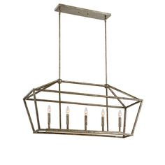 Found it at Wayfair - 5-Light Foyer Pendant in Antique Silver or Vintage Gold by Millenium Lighting