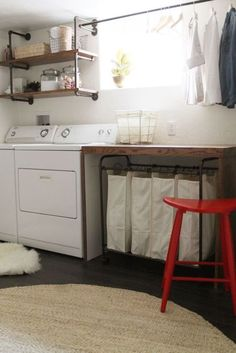 Find This Pin And More On Exposed Basement Ceiling By Larajpaul. 20  Most Functional Basement Ideas. Making A Laundry Room In An Unfinished  Basement