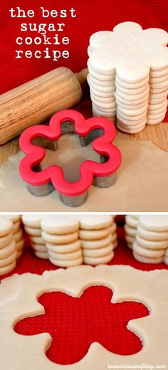 The Best Sugar Cookie Recipe - easy to make, soft, delicious and keeps the shape of the cookie cutter. For more great Cookie Recipes follow us on Pinterest.