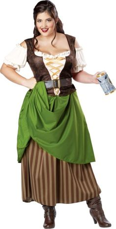 Adult Tavern Maiden Costume Plus Size - Party City