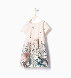 Image 1 of Printed jacquard dress from Zara Kids Outfits Girls, Girl Outfits, Girls Dresses, Little Fashionista, Little Girl Fashion, Kids Fashion, School Fashion, Fashion Tips, Kids Clothes Sale