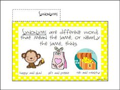 I am celebrating 100 followers on my blog with this FREE Vocabulary Mini-Word Wall and Flip book.  This booklet presents compound words, synonyms, antonyms, and homophones.