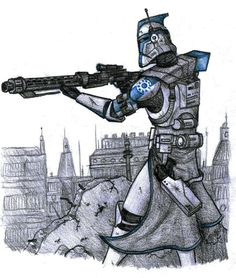 One of the best drawings I've seen of a clone trooper