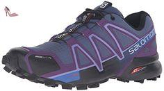 Salomon Speedcross 4 Cs W, Chaussures de Trail femme, Bleu (Slateblue/cosmic Purple/black), 41 1/3 EU - Chaussures salomon (*Partner-Link)