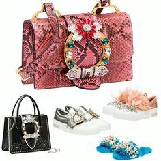 Algumas das lindezas da Miu Miu inspirando o fim de semana, disponíveis na loja online da grife.💗✨ #beautiful #miumiu #fashion #accessories
