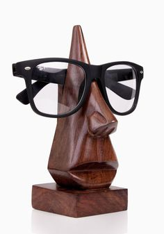 Handmade Nose Shaped Wooden Decorative Spectacle / Readin