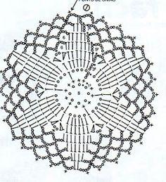 Crocheted motif no. 1617 - Her Crochet Crochet Dreamcatcher Pattern, Mandala Au Crochet, Crochet Snowflake Pattern, Crochet Stars, Crochet Circles, Crochet Motifs, Crochet Blocks, Crochet Snowflakes, Crochet Round
