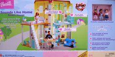 Amazon.com: BARBIE Happy Family SOUNDS LIKE HOME SMART HOUSE Playset w LIGHTS & SOUNDS (2004): Toys & Games