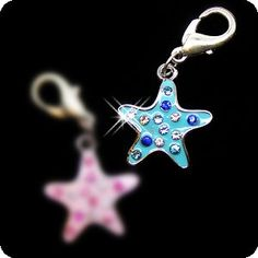 PURELY CHARMING Enameled Pet Charm/Pendant with Handset Swarovski Crystals - Sea Star (Blue) -- New and awesome cat product awaits you, Read it now  : Cat accessories