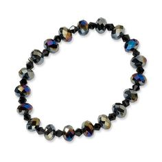 Aurora Borealis Black Crystal Beaded Stetch Bracelet Jewelrypot. $23.99. Fabulous Promotions and Discounts!. All Genuine Diamonds, Gemstones, Materials, and Precious Metals. 30 Day Money Back Guarantee. 100% Satisfaction Guarantee. Questions? Call 866-923-4446. Your item will be shipped the same or next weekday!