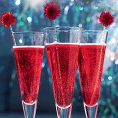 Cócteles con champagne para Navidad