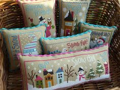 Pinner said: Love how Karen finished them as individual pillows.
