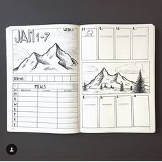 "407 Likes, 2 Comments - The Journal Life (@the.journal.life) on Instagram: ""Absolutely love this spread @dutch_dots • • • #bujo #bulletjournals #bulletjournal #bullet…"""