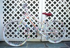 Splatter Painting my Bike will be my next big art project