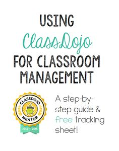 I'm so excited to share about my favorite classroom app, ClassDojo! ClassDojo is a web-based classroom management system that can fit in with anyone's class room management program and expectations. Even better, a free app is available so that you can reward your students from a tablet or cell phone without having to run to …