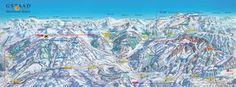 Gstaad Mountain Rides Ski Trail Map