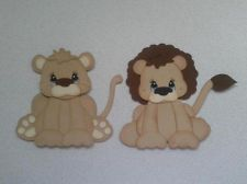 SCRAPBOOK PAPER PIECING LION & LIONESS TINY TREASURE BY MY TEAR BEARS KIRA
