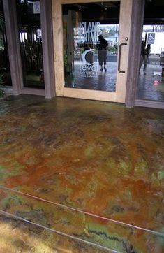 Concrete & Color Name: Metallic Acid Stain Manufacturer: Westcoat Durable and UV resistant, and has Concrete Floors, Epoxy Concrete, Plywood Floors, Concrete Lamp, Concrete Patio, Concrete Countertops, Laminate Flooring, Shaker Kitchen Company, Waterproof Epoxy