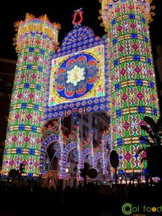 #fallas #lights #valencia Local Festivals, Valencia, Tower, Lights, Traditional, Rook, Computer Case, Lighting, Rope Lighting