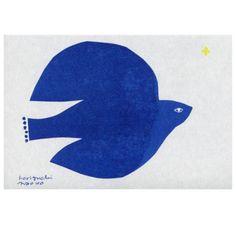 Peace - By Naoko Horiguchi Bird Illustration, Illustrations, Japanese Illustration, Art Bleu, Silhouettes, Blue Art, Heart Art, Japanese Art, Painting & Drawing