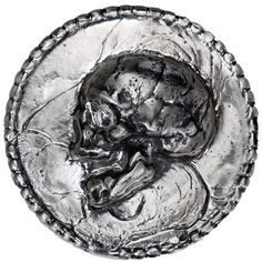 10 oz MK Barz Hand Poured Silver Round from JM Bullion™ Silver Rounds, Skeletons, Skulls, Stuff To Buy, Skull, Skeleton