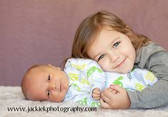 Newborn with older sibling photo idea