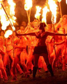 Beltane Fire Festival, Calton Hill, Edinburgh Scotland