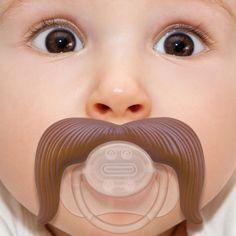 Moustache Pacifier http://stuffyoushouldhave.com/moustache-pacifier/