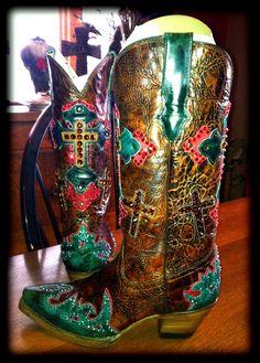 Swarovski Crystal Cowboy Boots. I want these