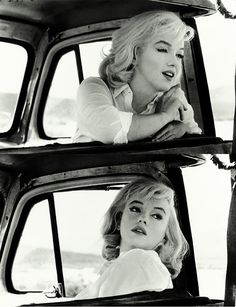 Marilyn Monroe on set of The Misfits