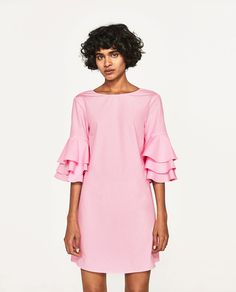 Image 2 of FRILLED-SLEEVE DRESS from Zara