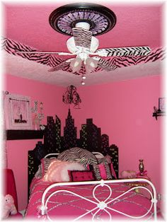 kids zebra pink  bedroom decorating ideas for girls | Angela Anderson Designs: SERIOUSLY PINK GIRLY ROOM!!
