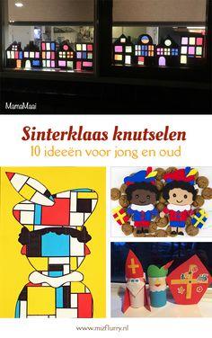Sinterklaas knutselen met peuters, kleuters of oudere kinderen? In dit bericht staan 10 leuke Sint en Piet knutselideeën. Ook Sinterklaas DIY projecten voor volwassenen en ideeën voor surprises maken. #sinterklaas #knutselen