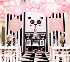 black white and pink panda party -See more Panda Party ideas on B. Lovely Events