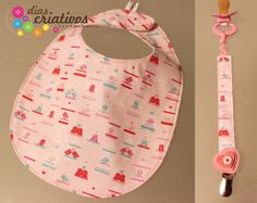 Baby bib and baby pacifier holder
