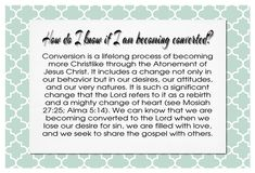 Nov YW handouts - How do I know if I am becoming converted sm
