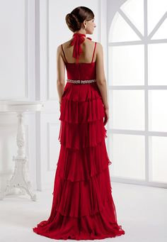 Elegant Sweetheart Evening Dress, Empire Waist Long Silk Evening Dress Wholesale