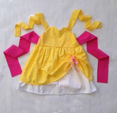 BELLE Inspired Sweetheart Dress from Beauty and the Beast Disney Princess Party Dress Up --  girls toddler costume children clothing. $38.50, via Etsy.