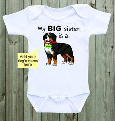 My Big sister is a Rottweiler baby onesie dog onesie funny baby saying custom onesie sibling shirt family pet baby shower gift unisex