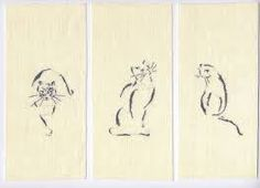Broderie au point de croix - Attitudes de chat d'après Marie-Thérèse Saint-Aubin - Sur commande par LeTambourArtisanat sur Etsy https://www.etsy.com/fr/listing/557043281/broderie-au-point-de-croix-attitudes-de