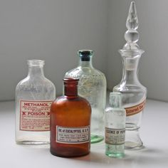 Medicine Bottles Set Of 5 II from Fab on shop.CatalogSpree.com, your personal digital mall.