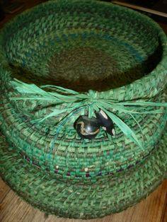 Green basket by Gae