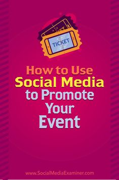 Discover how to use social media to keep your event top of mind with your audience.