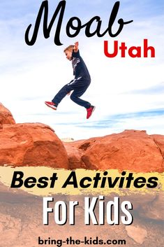 Moab Utah is the perfect place to let your kids explore and discover nature. We've picked the best activities for kids from calm outings to adrenaline adventures. Moab Utah, Utah Hikes, Hiking With Kids, Road Trip With Kids, Family Adventure, Adventure Travel, Colorado River, Colorado Hiking, Utah Camping