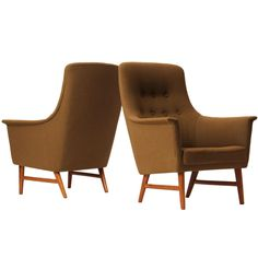 Lounge Chairs By Torbjorn Afdal ca1950's Norway